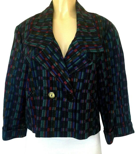 Item - Multicolor Jacket Wool Double Breasted Color Blazer Size 10 (M)