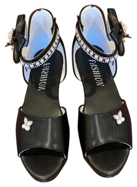 Item - Black Wedges Size EU 34 (Approx. US 4) Regular (M, B)