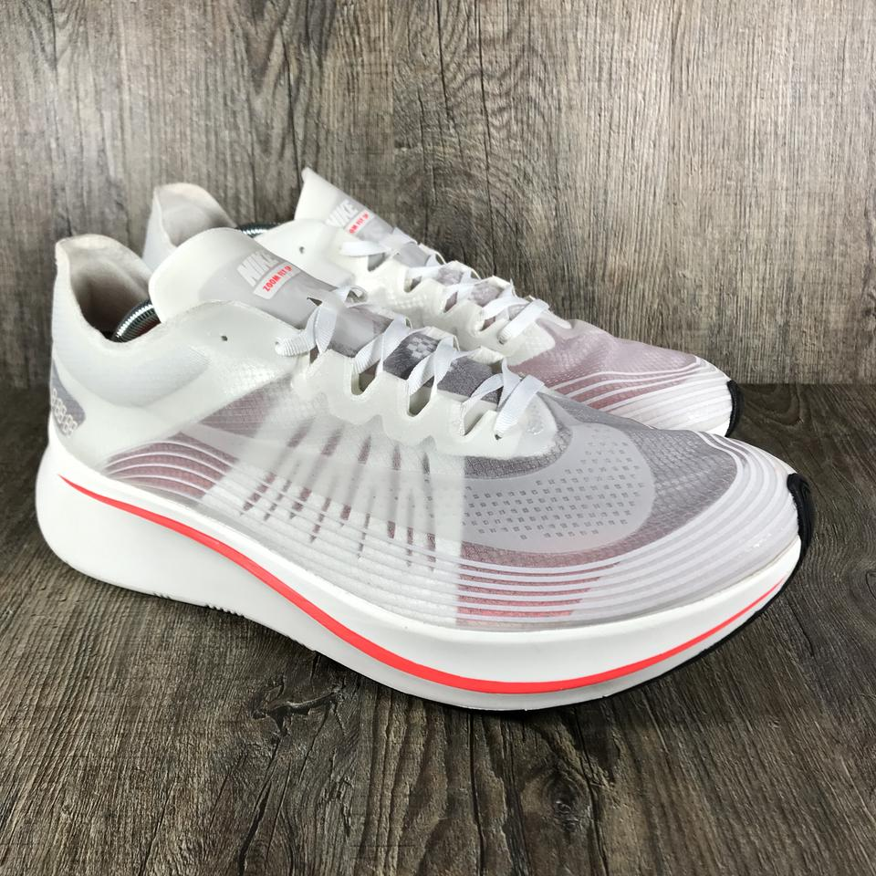 ebb6538ba2fc7 Nike Zoom Fly Sneakers Running White Sail-Bright Crimson Athletic ...