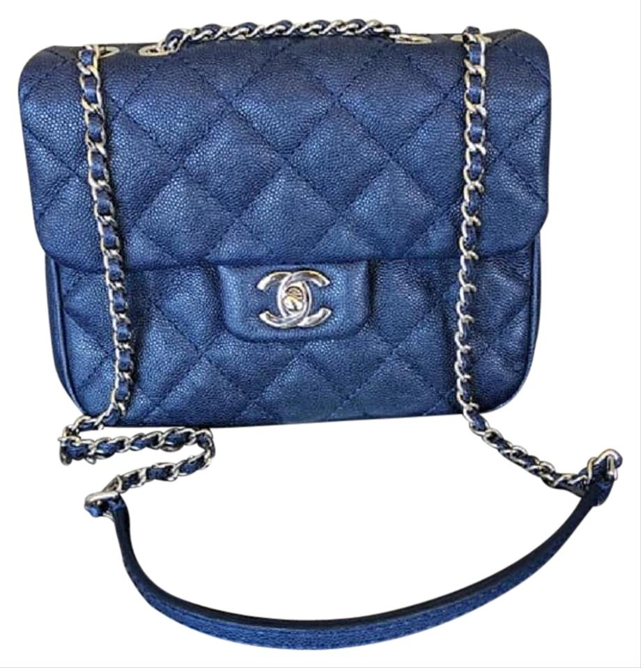07b5a8d6c5bd Chanel Small Caviar Urban Companion Navy Blue Leather Cross Body Bag ...