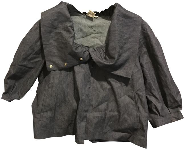 Item - Medium Wash Denim With A Wide Collar Snaps and Like New Blouse Size 12 (L)