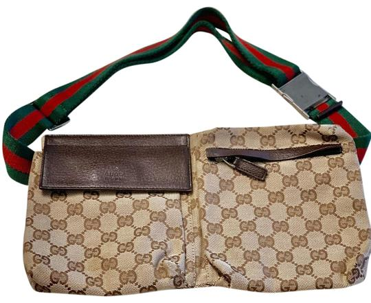44eea04af Gucci Fanny Pack Brown Cloth with Leather Details Cross Body Bag ...