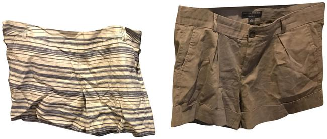 Item - Two For 1 Biege and Blue Stripe / Taupe Great Price. The Limited Shorts Size 12 (L, 32, 33)