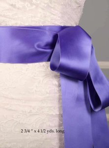 Periwinkle Purple Ribbon Sash