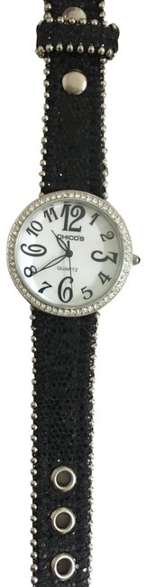 Chico's Black with White Face Crystal Band Watch Chico's Black with White Face Crystal Band Watch Image 1