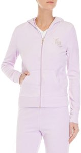"""Juicy Couture Crystal-Scripted """"JC"""" Velour Hoodie Jacket Style No. OWTKJ147410"""