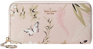 Kate Spade KATE SPADE Briar Lane Botanical Neda Leather Zip Around Wallet