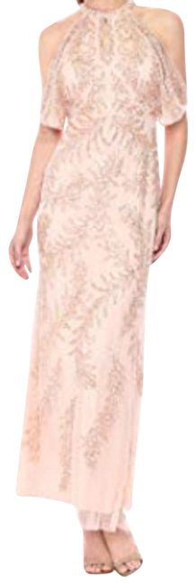 Item - Blush Women's Cold Shoulder Beaded Gown Long Formal Dress Size 0 (XS)