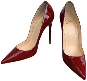 fdac3ec64d50 Christian Louboutin Patent Leather Stiletto Pointed Toe Red Pumps