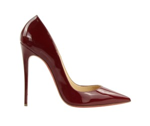 Christian Louboutin Patent Leather Stiletto Pointed Toe Red Pumps