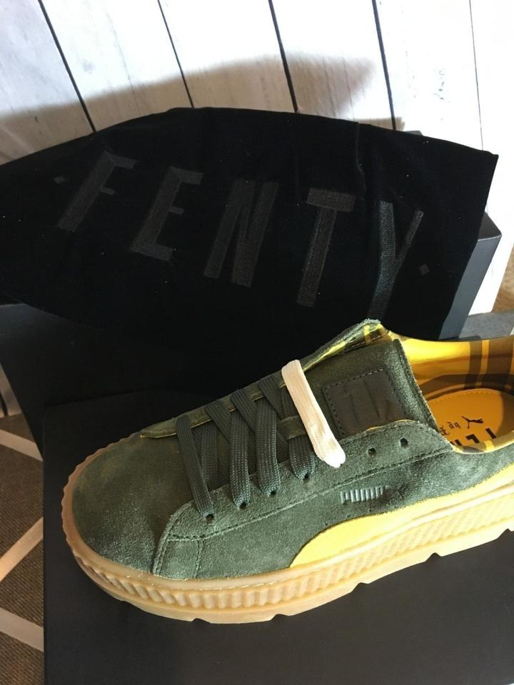 the latest 91c06 b1479 FENTY PUMA by Rihanna Army Green Women's Cleated Creeper Suede Platform  Sneakers Size US 7.5 Regular (M, B) 43% off retail