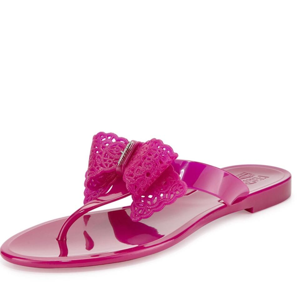 49061fc5f5191 Salvatore Ferragamo Pink Pandy Jelly Thong Sandals Size US 9 Regular ...