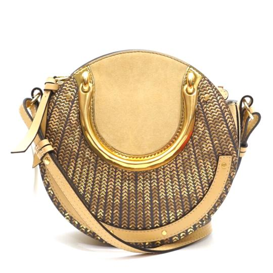 Preload https://img-static.tradesy.com/item/25034125/chloe-pixie-sequined-patterned-small-round-gold-leather-cross-body-bag-0-0-540-540.jpg