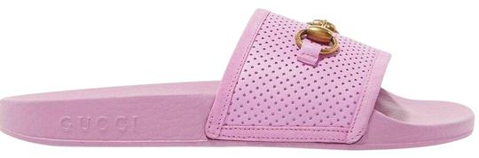 Preload https://img-static.tradesy.com/item/25034238/gucci-pink-horsebit-pursuit-perforated-rubber-slide-mule-slipper-flat-sandals-size-eu-40-approx-us-1-0-1-540-540.jpg
