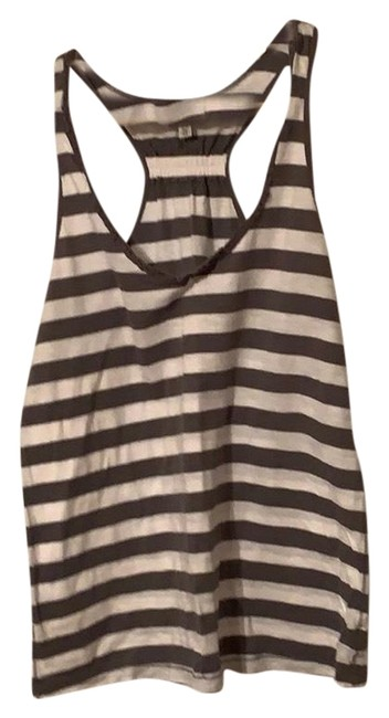 American Eagle Outfitters Gray & White Striped Racerback Tank Top/Cami Size 16 (XL, Plus 0x) American Eagle Outfitters Gray & White Striped Racerback Tank Top/Cami Size 16 (XL, Plus 0x) Image 1