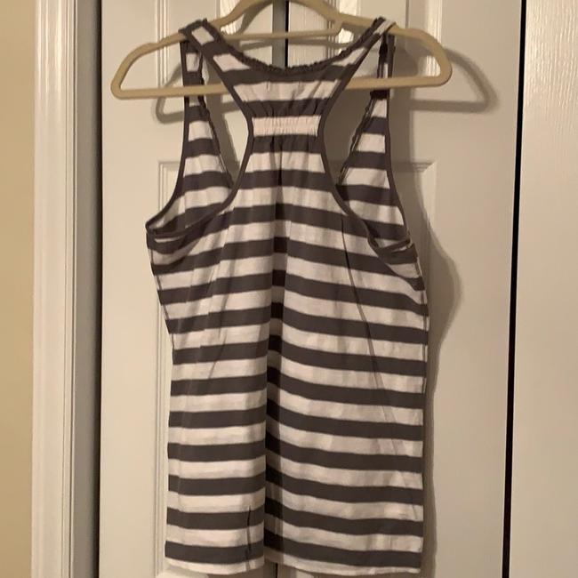 American Eagle Outfitters Gray & White Striped Racerback Tank Top/Cami Size 16 (XL, Plus 0x) American Eagle Outfitters Gray & White Striped Racerback Tank Top/Cami Size 16 (XL, Plus 0x) Image 2