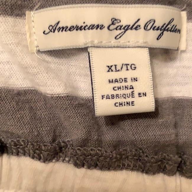 American Eagle Outfitters Gray & White Striped Racerback Tank Top/Cami Size 16 (XL, Plus 0x) American Eagle Outfitters Gray & White Striped Racerback Tank Top/Cami Size 16 (XL, Plus 0x) Image 3