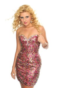 Precious Formals Prom Pageant Homecoming Sequin Dress