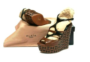 ALAÏA Retail Sexy And Comfy Great Value Trusted Seller Brown Black Wedges