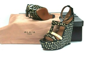 ALAÏA Retail Sexy And Comfy Great Value Trusted Seller Black Wedges