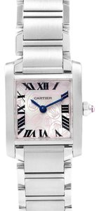 Cartier Cartier Tank Francaise Pink Double C Decor LE Ladies Watch W51031Q3