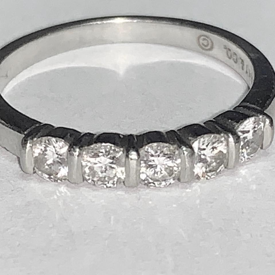 66ab6e3f5 Tiffany & Co. Co Vintage Diamond Ring Platinum 1/2ct Women's Wedding Band  Image ...