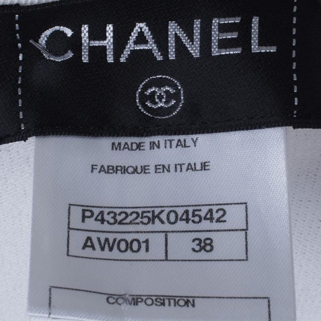 Chanel White Zip Front Knit Jacket M Image 4