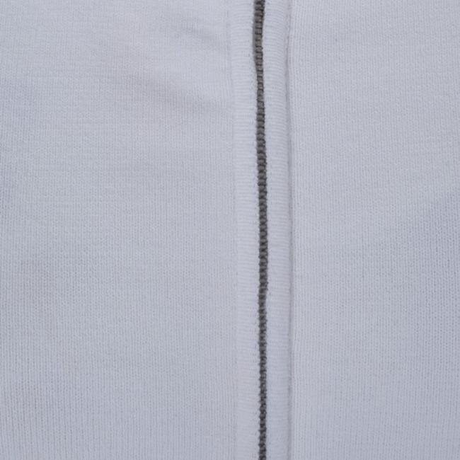 Chanel White Zip Front Knit Jacket M Image 6