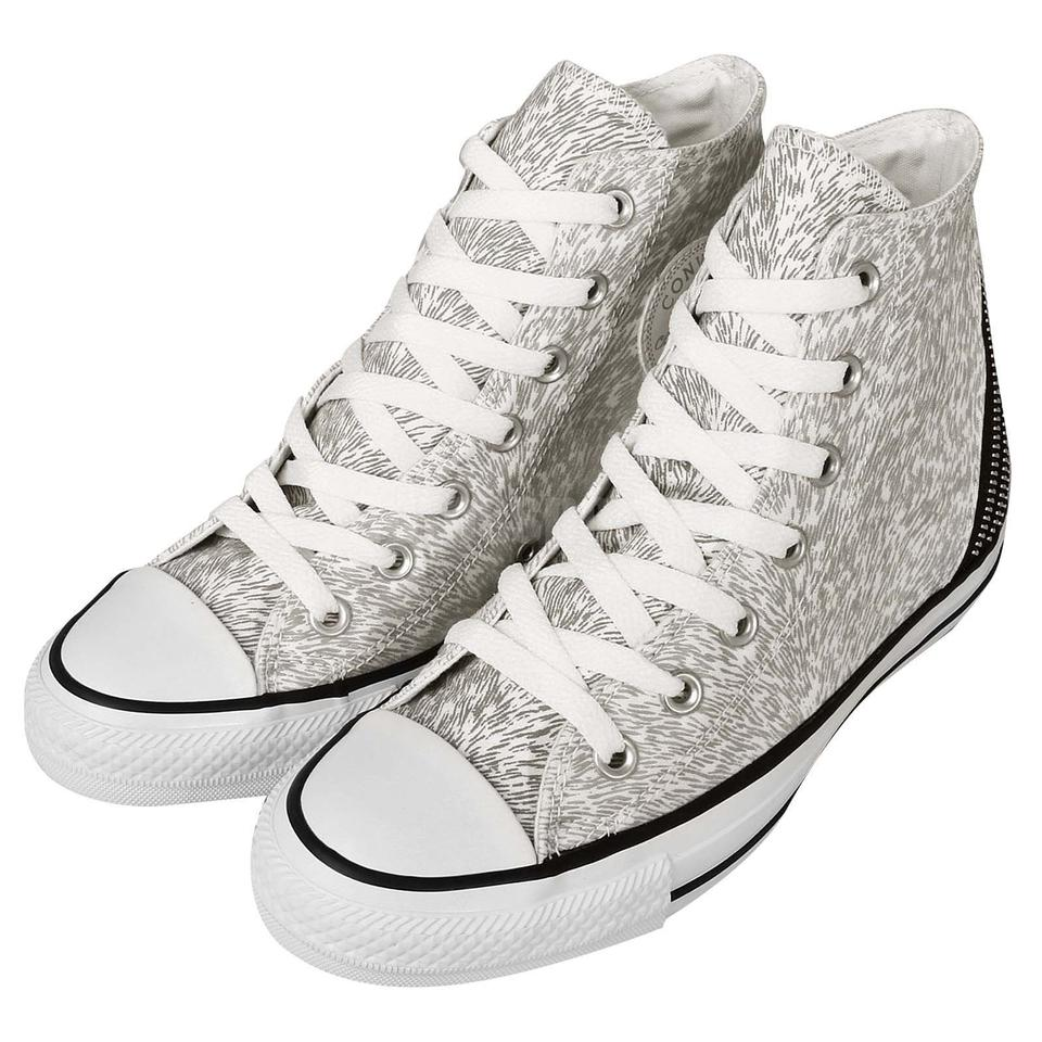11302a4a43cfcd Converse Silver Chuck Taylor All Star Tri Zip White Silver Reflective  Sneakers