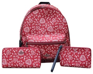 Coach Floral Peony Vintage Style Signature Backpack