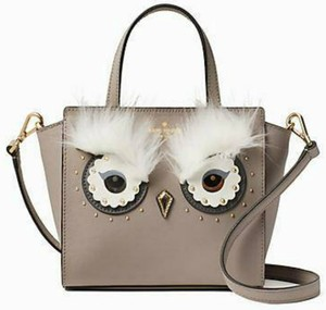 Kate Spade Owl Leather Tote Animal Print Tote Cross Body Bag
