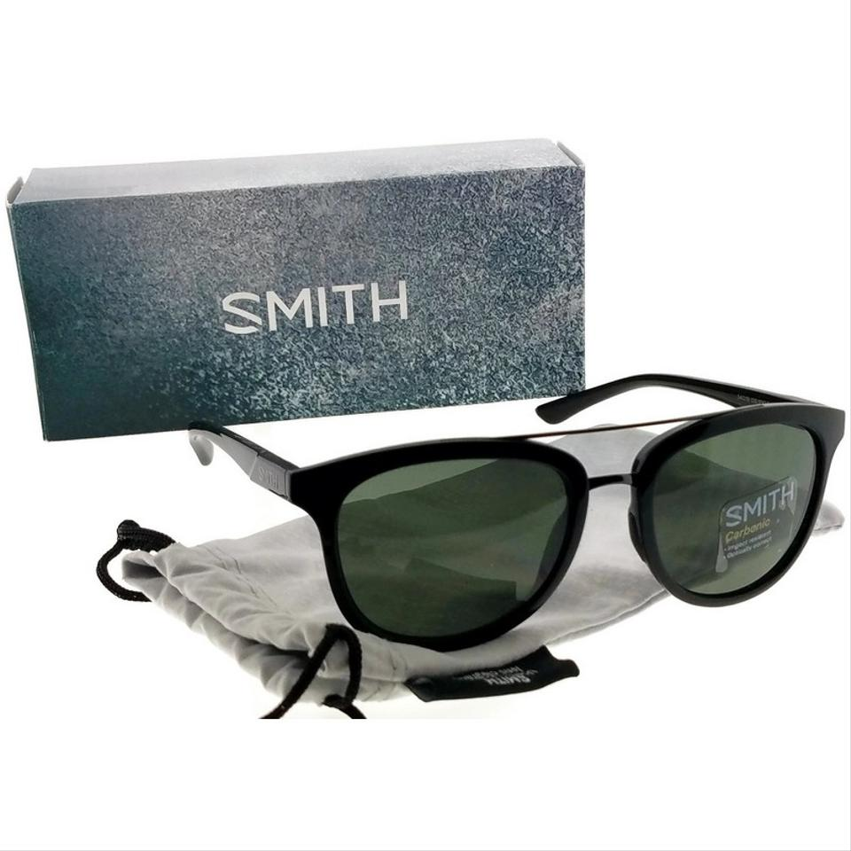 b2a9221fa9 Smith SM-CLAYTON-54 Square Unisex Black Frame Grey Lens Genuine Sunglasses  Image 5. 123456