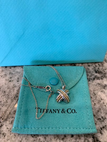 Tiffany & Co. Tiffany & Co. Signature 18K YELLOW GOLD 925 STERLING SILVER X NECKLACE