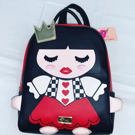 Preload https://img-static.tradesy.com/item/25036088/betsey-johnson-dollface-queen-of-hearts-black-red-faux-leather-backpack-0-0-540-540.jpg