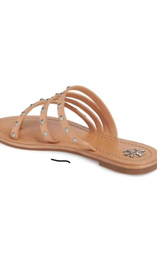 Tory Burch natural/tan with silver grommets Sandals