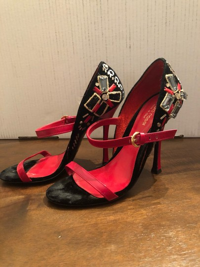 Sergio Rossi black and red Formal