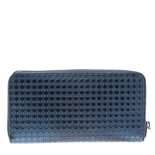 Preload https://img-static.tradesy.com/item/25036210/dior-blue-metallic-cannage-patent-leather-zip-around-wallet-0-0-540-540.jpg