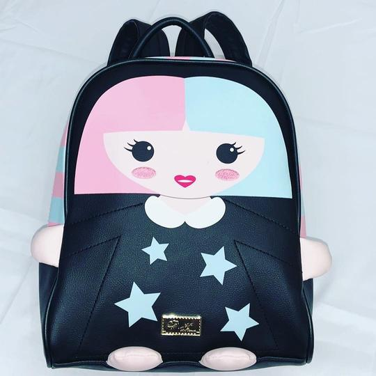 Preload https://img-static.tradesy.com/item/25036248/betsey-johnson-dollface-black-pink-blue-faux-leather-backpack-0-0-540-540.jpg