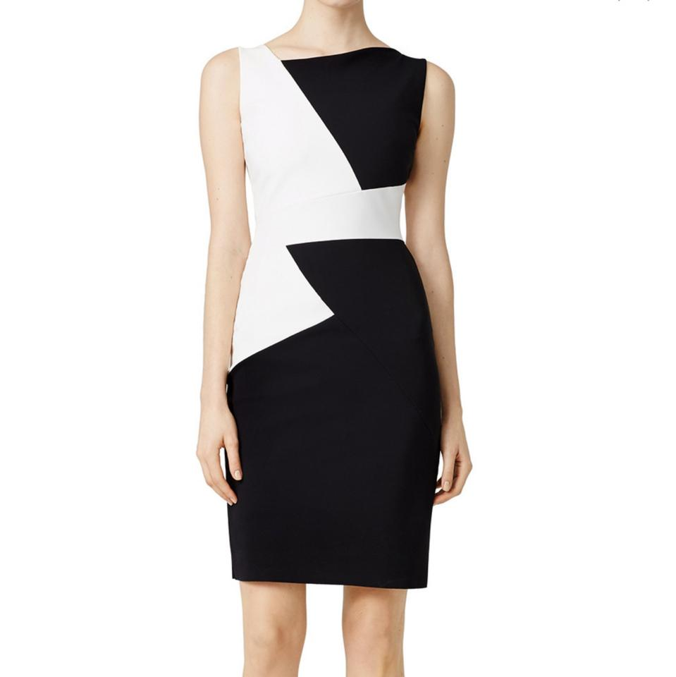 a2510deb La Petite Robe di Chiara Boni Black and White Colorblock Sheath Cocktail  Dress