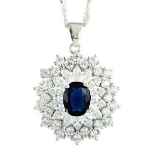 Unknown Simulated Sapphire Necklace