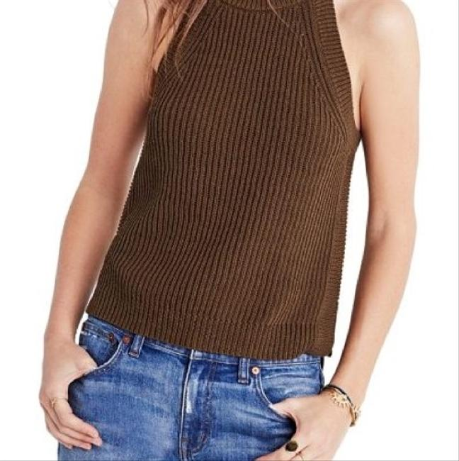 Madewell Green High Neck Top olive