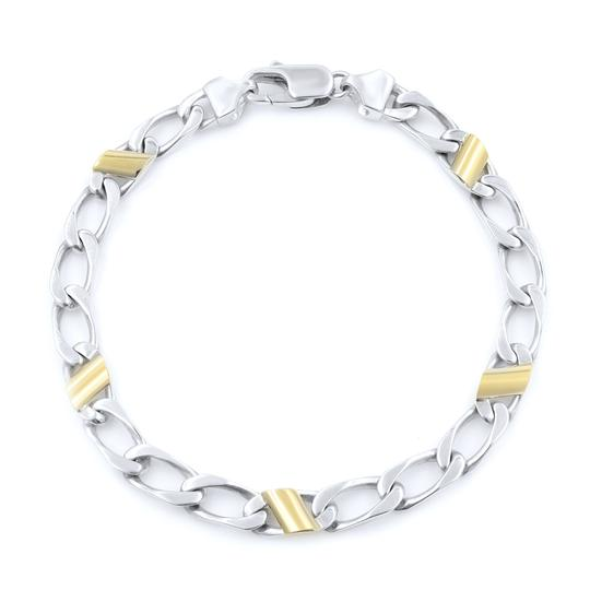 Preload https://img-static.tradesy.com/item/25036447/tiffany-and-co-silver-gold-link-75-inches-bracelet-0-0-540-540.jpg