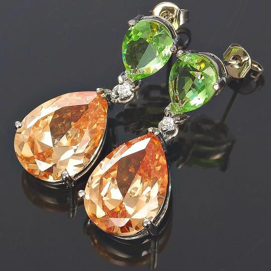 Unknown Celebrity Inspired Simulated Peridot Earrings