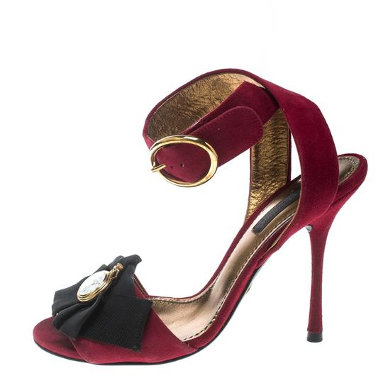 Preload https://img-static.tradesy.com/item/25036481/dolce-and-gabbana-red-suede-stopwatch-embellished-criss-cross-strap-sandals-size-eu-36-approx-us-6-r-0-0-540-540.jpg