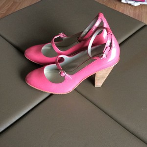 DKNY pattern pink Mules