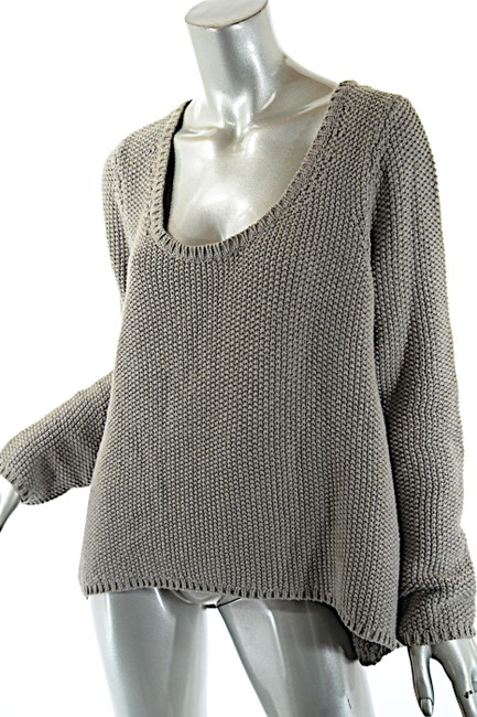 Margaret O'Leary Waffle Weave Scoop Neck Sweater
