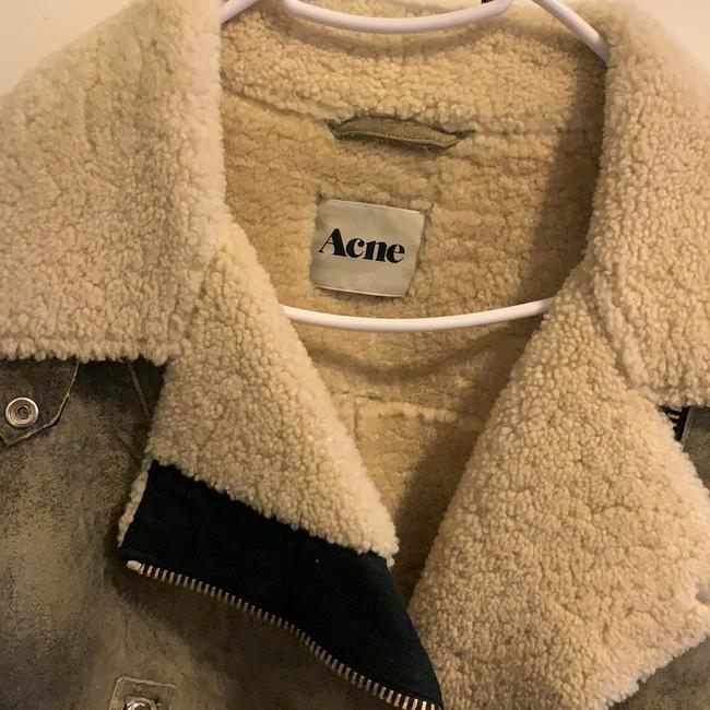 Acne Studios Shearling Zippers Leather Motorcycle Jacket