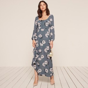 Blue Maxi Dress by Reformation Floral