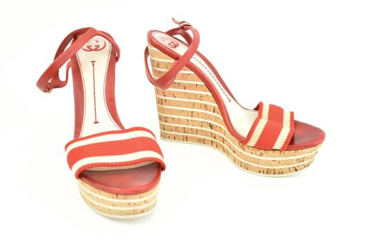 Preload https://img-static.tradesy.com/item/25036612/gucci-red-horsebit-leather-and-striped-cork-wedge-heels-sandals-size-eu-38-approx-us-8-regular-m-b-0-0-540-540.jpg