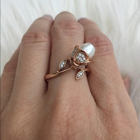 Natural Mother Of Pearl Diamond Ring Rose Gold Mother Of Pearl Diamond Ring